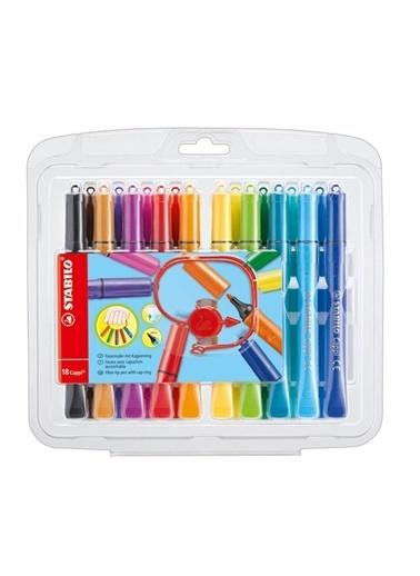 Stabilo  Cappi Keçe Uçlu Kalem 18 Renk 168 18-1 Renkli